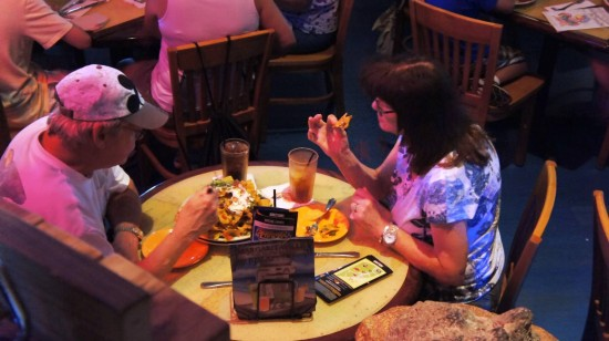 Margaritaville Cafe Orlando: Volcano nachos--enough for two, for your whole meal!