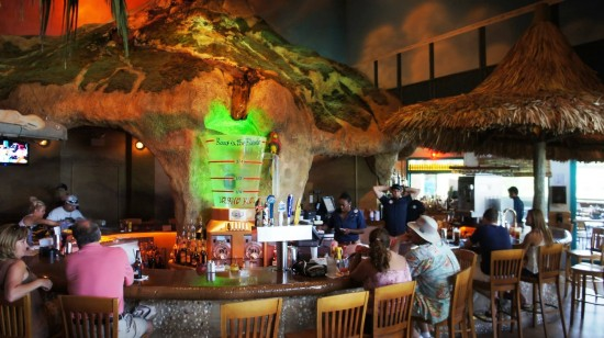 Margaritaville Cafe Orlando: You can order the full menu at the bar too... but why?