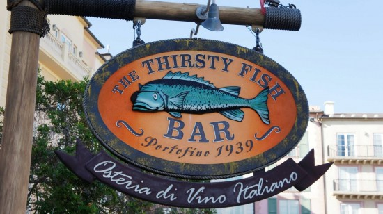 The Thirsty Fish at Portofino Bay Hotel.