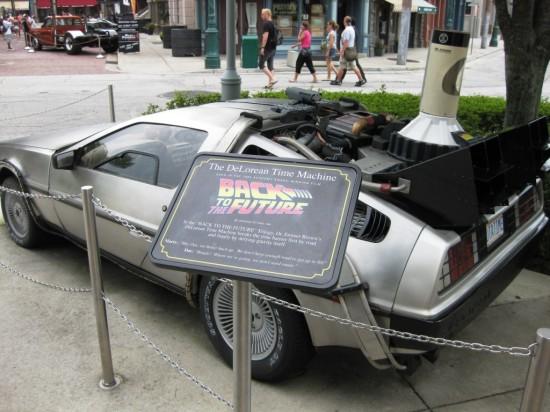 Back to the Future DeLorean at Universal Studios Florida