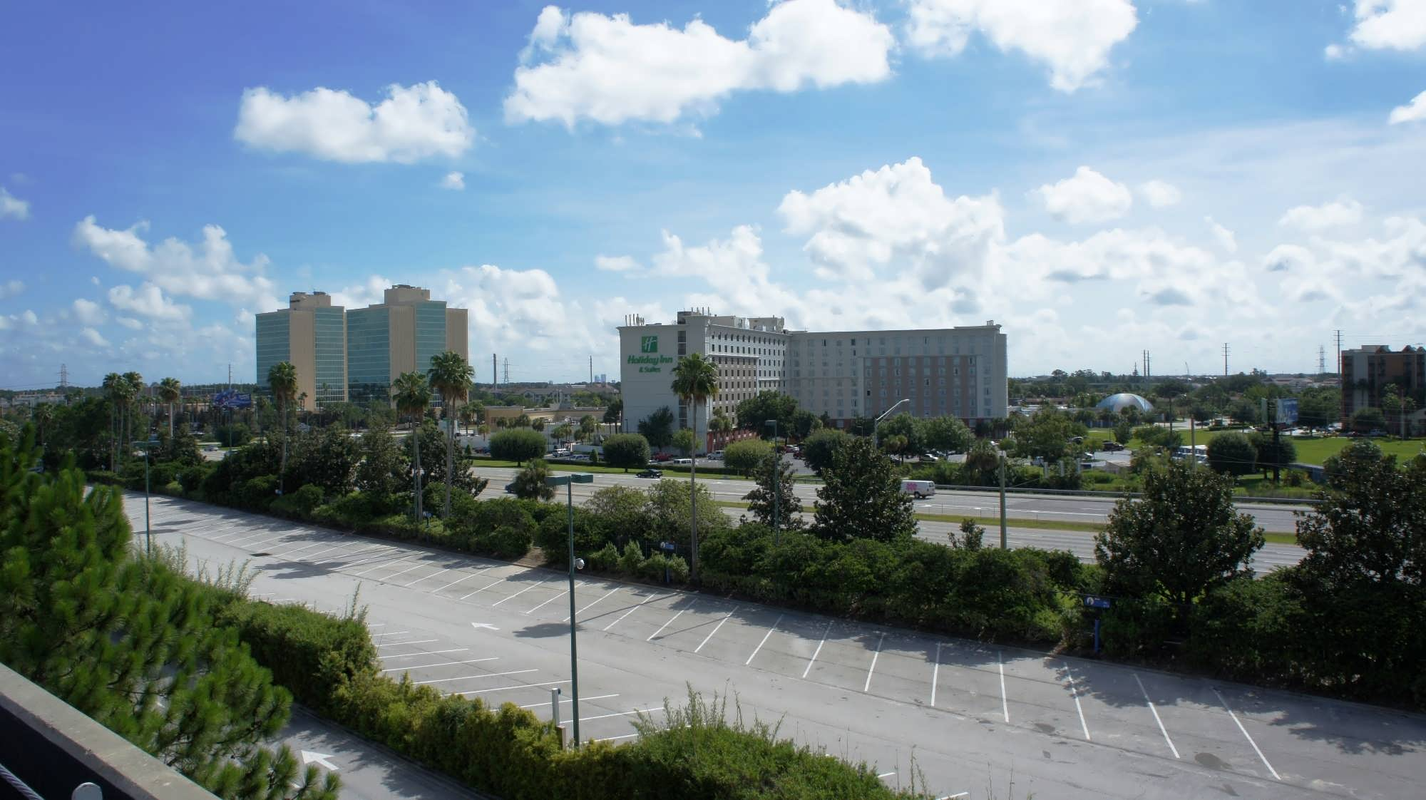 View of Holiday Inn and DoubleTree