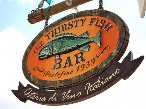 Thirsty Fish sign