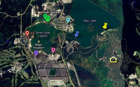 Wilderness Lodge & Fort Wilderness transportation map