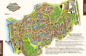 Fort Wilderness campgrounds map