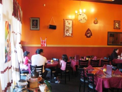 Nile Ethiopian Cuisine: Interior with a modest decor.