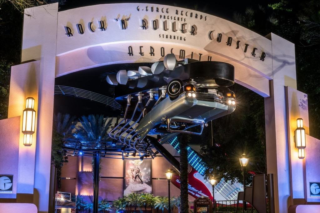 Rock 'n' Roller Coaster Starring Aerosmith Marquee at Disney's Hollywood Studios
