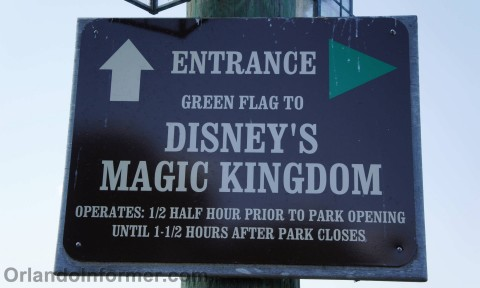 Disney's Fort Wilderness: Sign for Magic Kingdom boat.