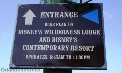 Disney's Fort Wilderness: Boat directions.
