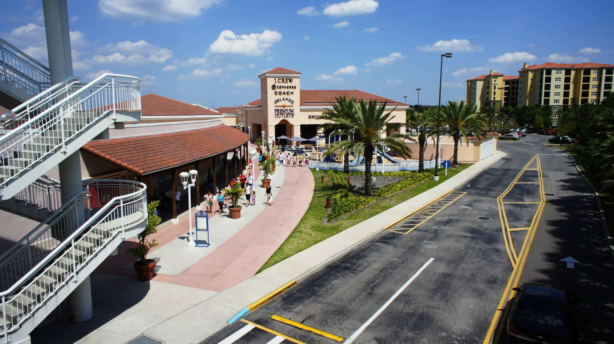 ed18122c97a5 Orlando Premium Outlets Vineland Ave  Hilton Grand Vacation Club in the  background.