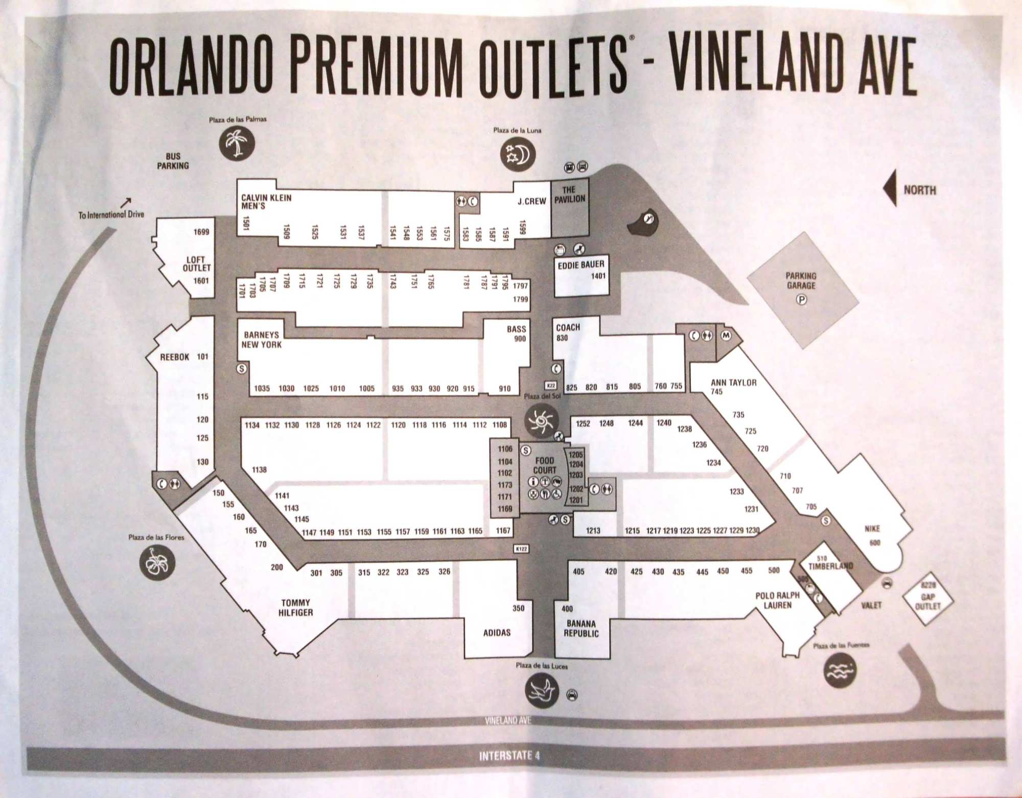 orlando premium outlets vineland ave closest outlet mall to  - orlando premium outlets vineland ave  map