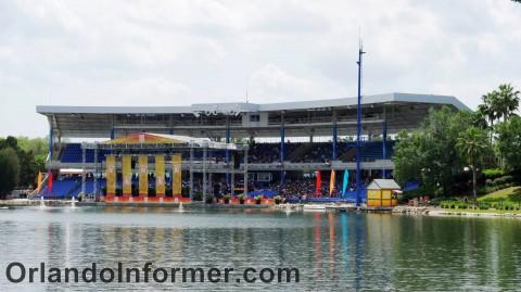 SeaWorld Orlando: Atlantis Bayside Stadium.