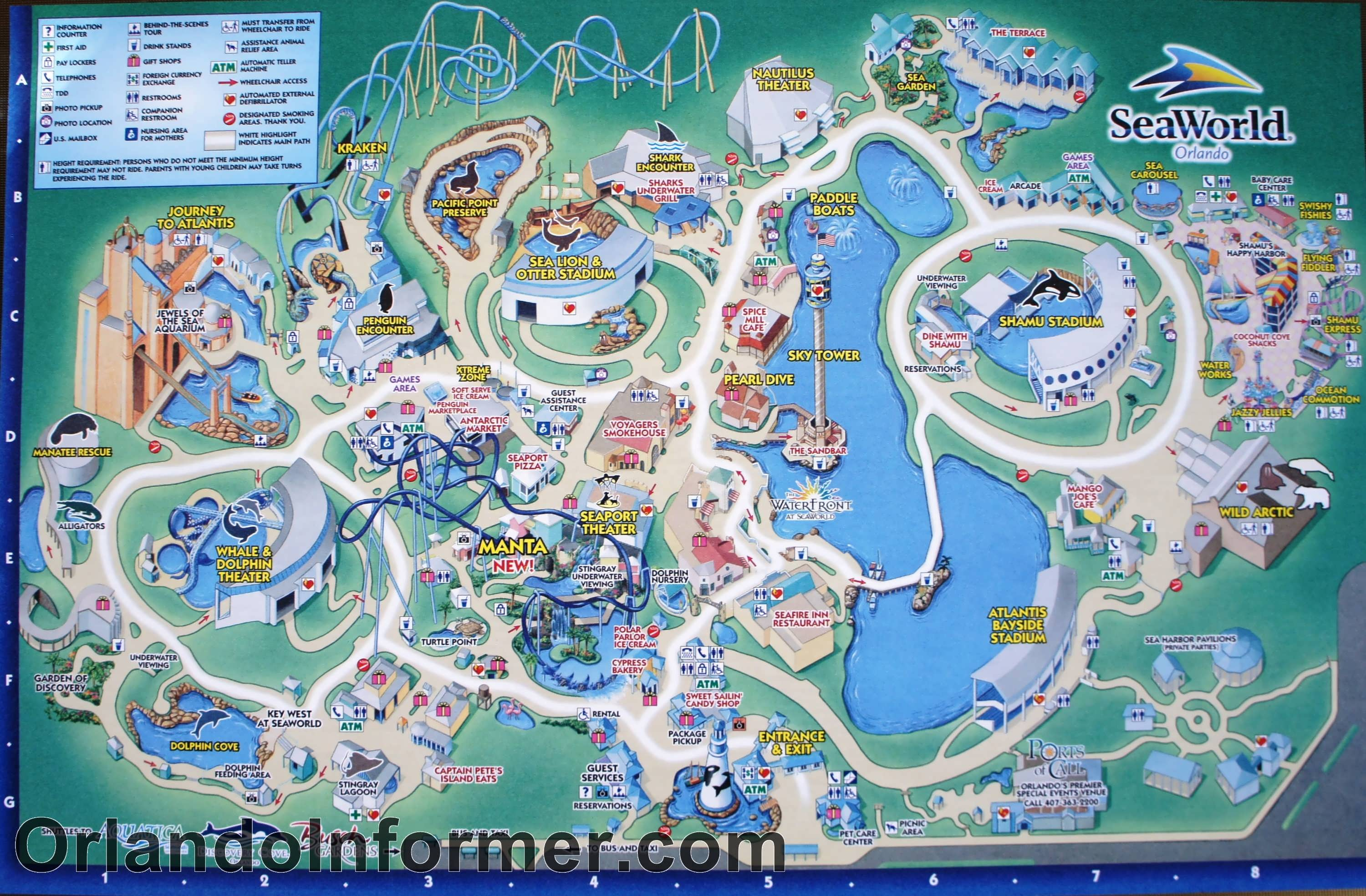 Scenes from SeaWorld Orlando - photo gallery, HD 1080p video, park map