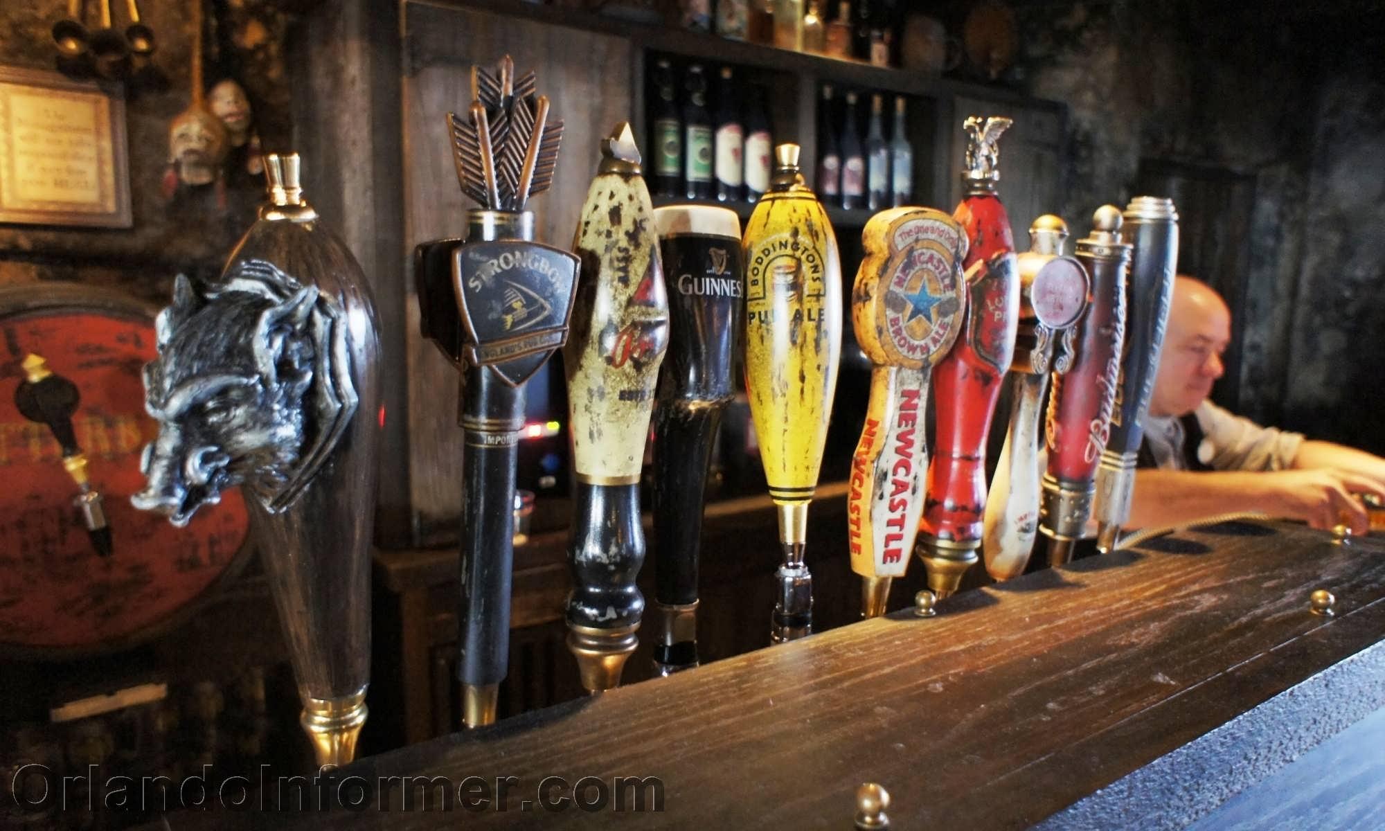 Hog's Head: The brews on tap.