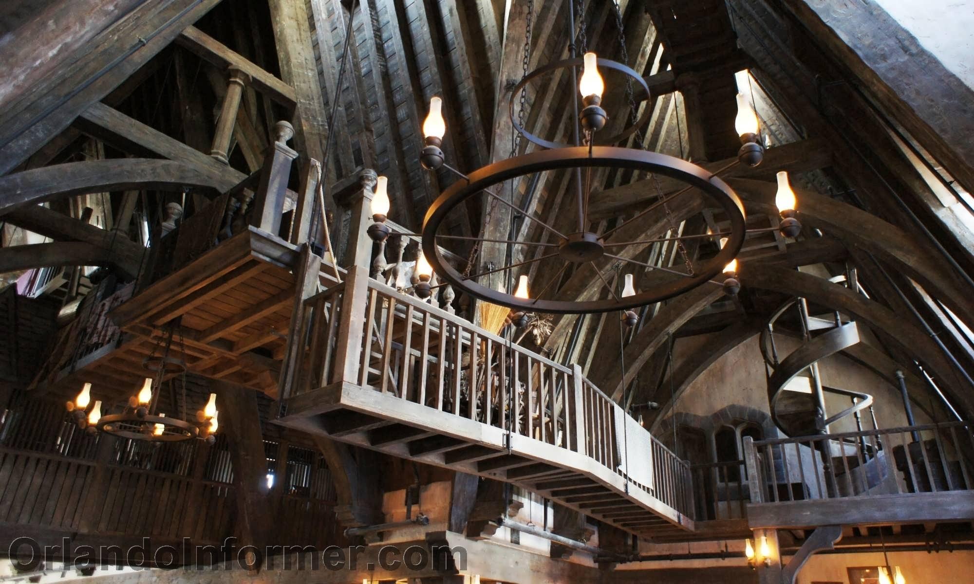 Three Broomsticks: Interior photos.