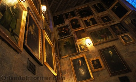 """Harry Potter and the Forbidden Journey: The """"tour only"""" talking portrait room."""