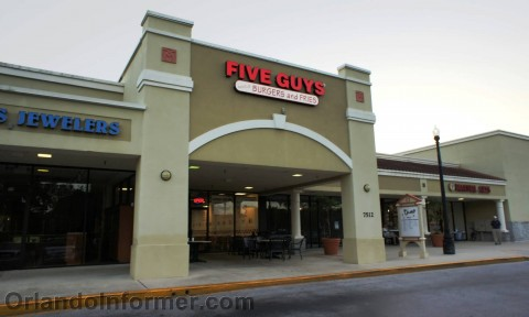 Five Guys: Dr. Phillips store entrance.