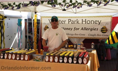 Celebration farmers market: Winter Park Honey (we bought some!).