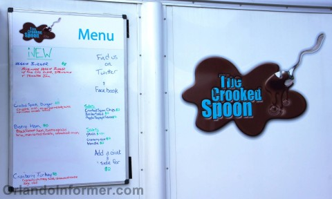 The Crooked Spoon food truck: PS. You should just write your Twitter name on the whiteboard (@TheCrookedSpn)
