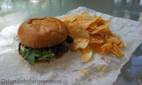 The Crooked Spoon food truck: The Crooked Spoon Burger.