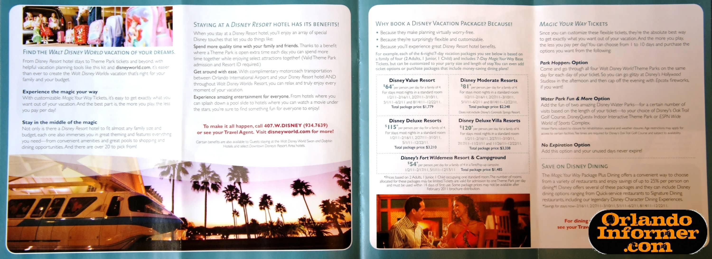 2011 Walt Disney World Vacation Brochure Let The Memories