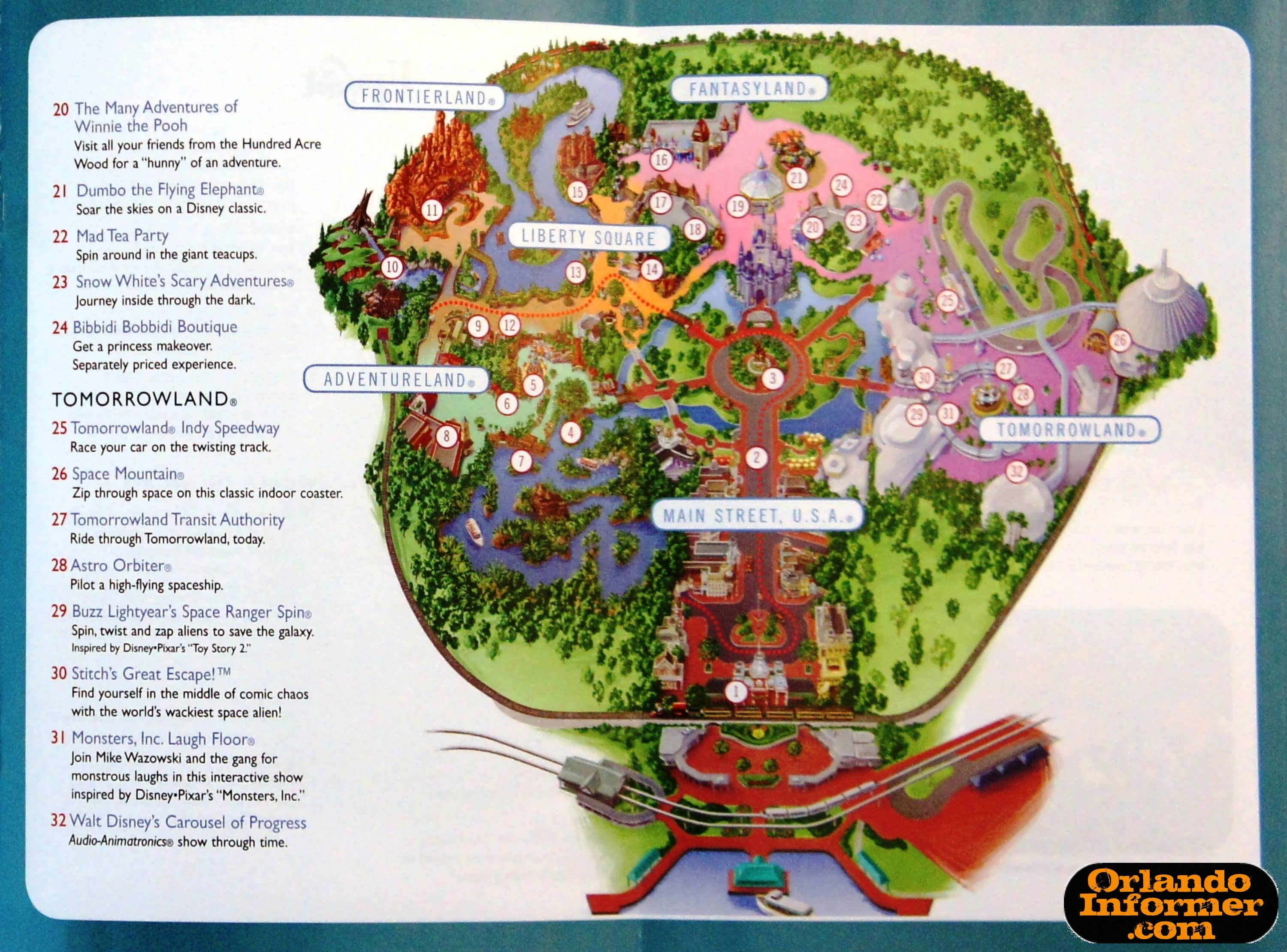 picture relating to Printable Magic Kingdom Map identified as 2011 Walt Disney Earth holiday brochure: Allow for the recollections