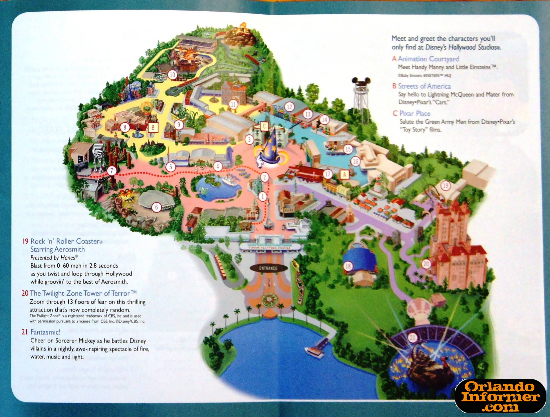 Disney Hollywood Studio Map Disney World Hollywood Studios