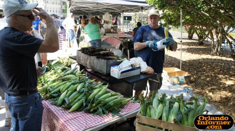 Orlando's Farmers Market at Lake Eola: Corner on the cob.
