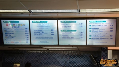 Cosmic Ray's Starlight Cafe: Bay 1 menu.