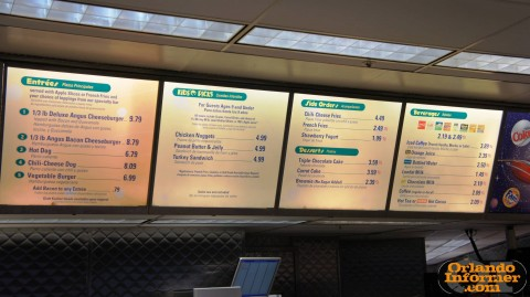 Cosmic Ray's Starlight Cafe: Bay 2 menu.