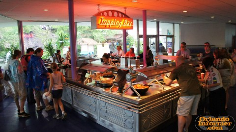 Cosmic Ray's Starlight Cafe: Toppings station.