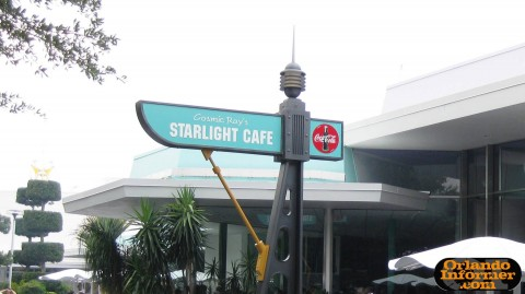 Cosmic Ray's Starlight Cafe: Sign.