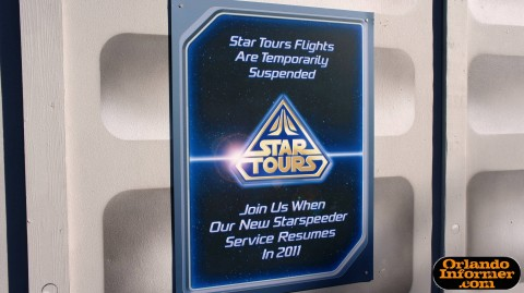 Star Tours 2.0 The Adventures Continue: Construction sign.