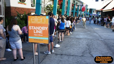 The Ellen Degeneres Show 2011 live at Universal: Standby line.