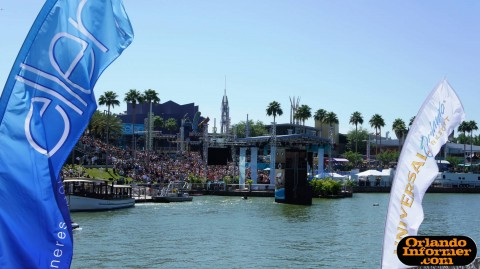 The Ellen Degeneres Show 2011 live at Universal: View from across the lagoon.