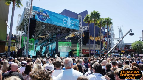 The Ellen Degeneres Show 2011 live at Universal: Duran Duran live on stage.