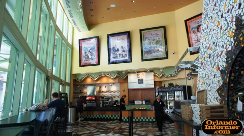 "Wolfgang Puck Cafe at Downtown Disney's West Side: Inside the quick-service ""Express"" side."