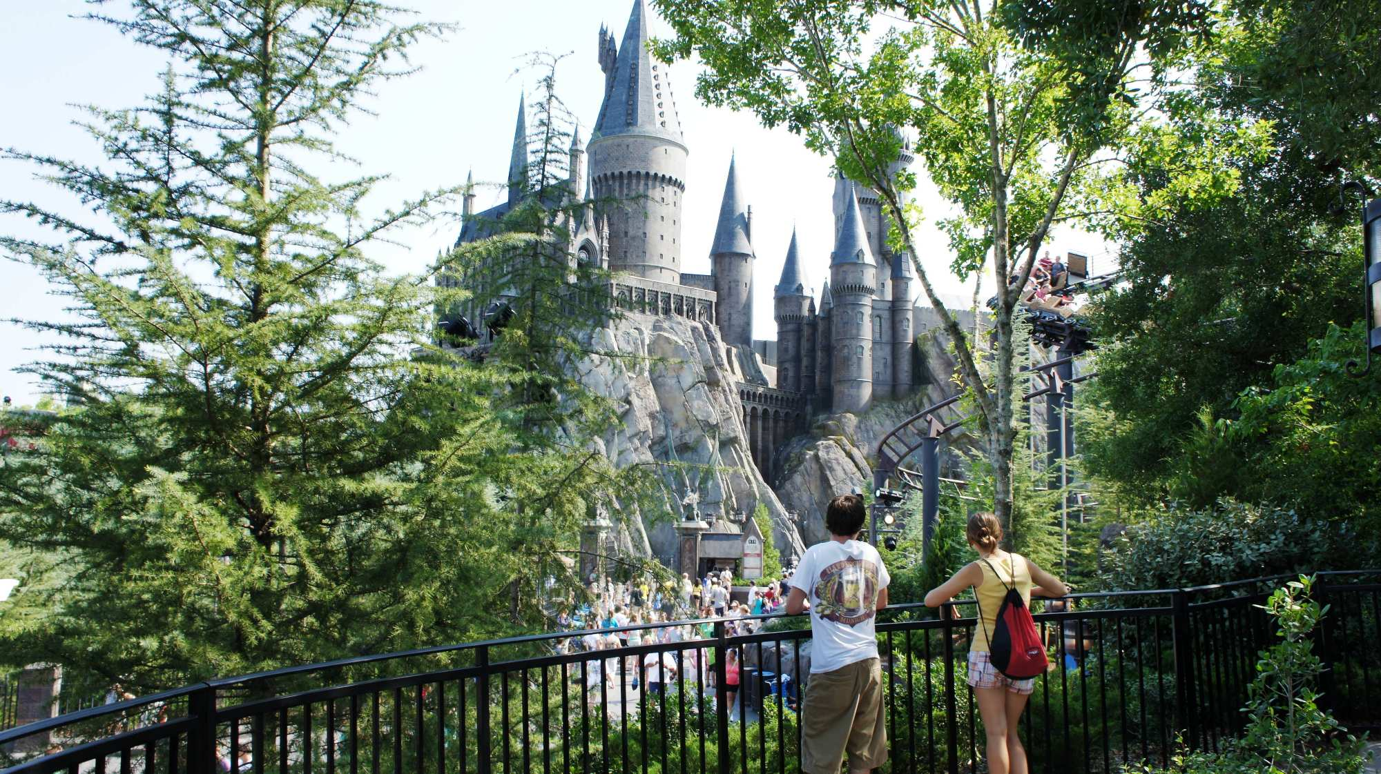 View from Dragon Challenge queue at Universal's Islands of Adventure
