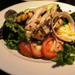 Bananas - A Modern American Diner: House Salad with chicken.