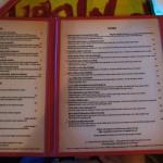 BB King's Blues Club at Pointe Orlando: The menu.