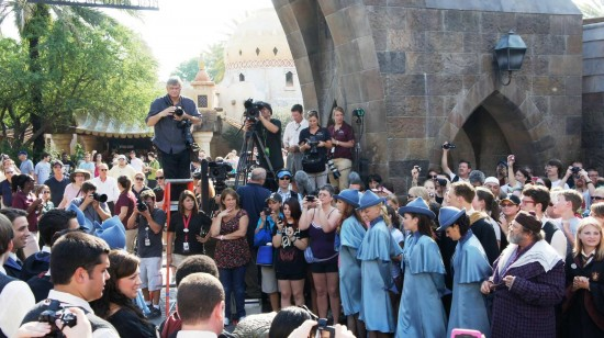 Wizarding World of Harry Potter one-year anniversary: Clearing a pathway.