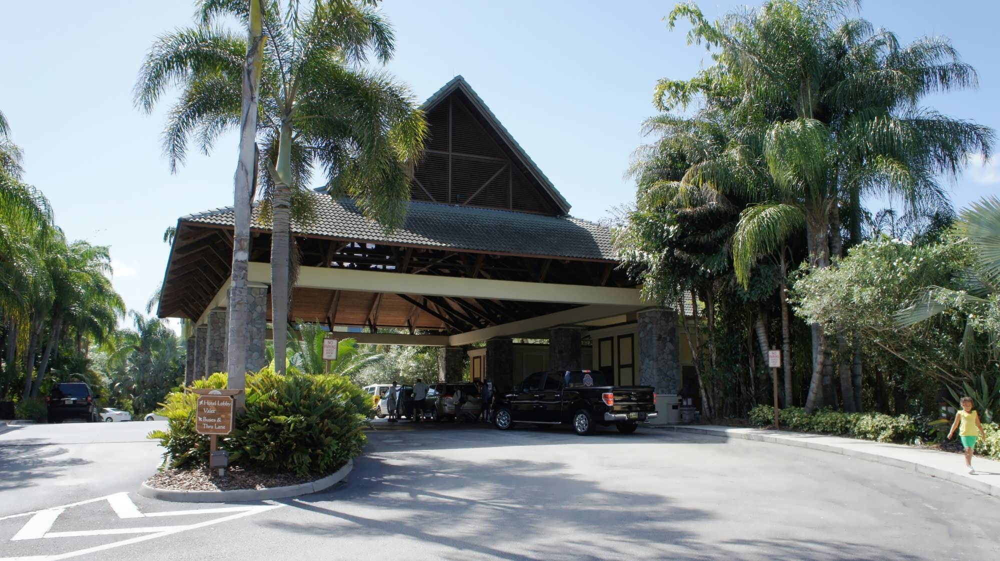 entrance area at Loews Royal Pacific Resort