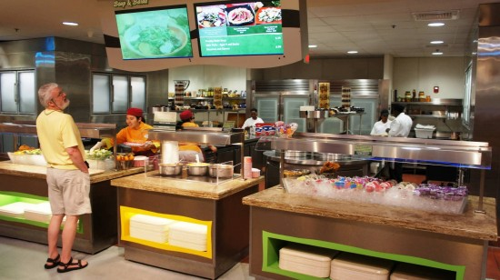 Sunshine Seasons Food Court at Epcot's Land Pavilion: Soup and salad.