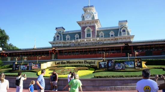 Entrance to Magic Kingdom at Walt Disney World.