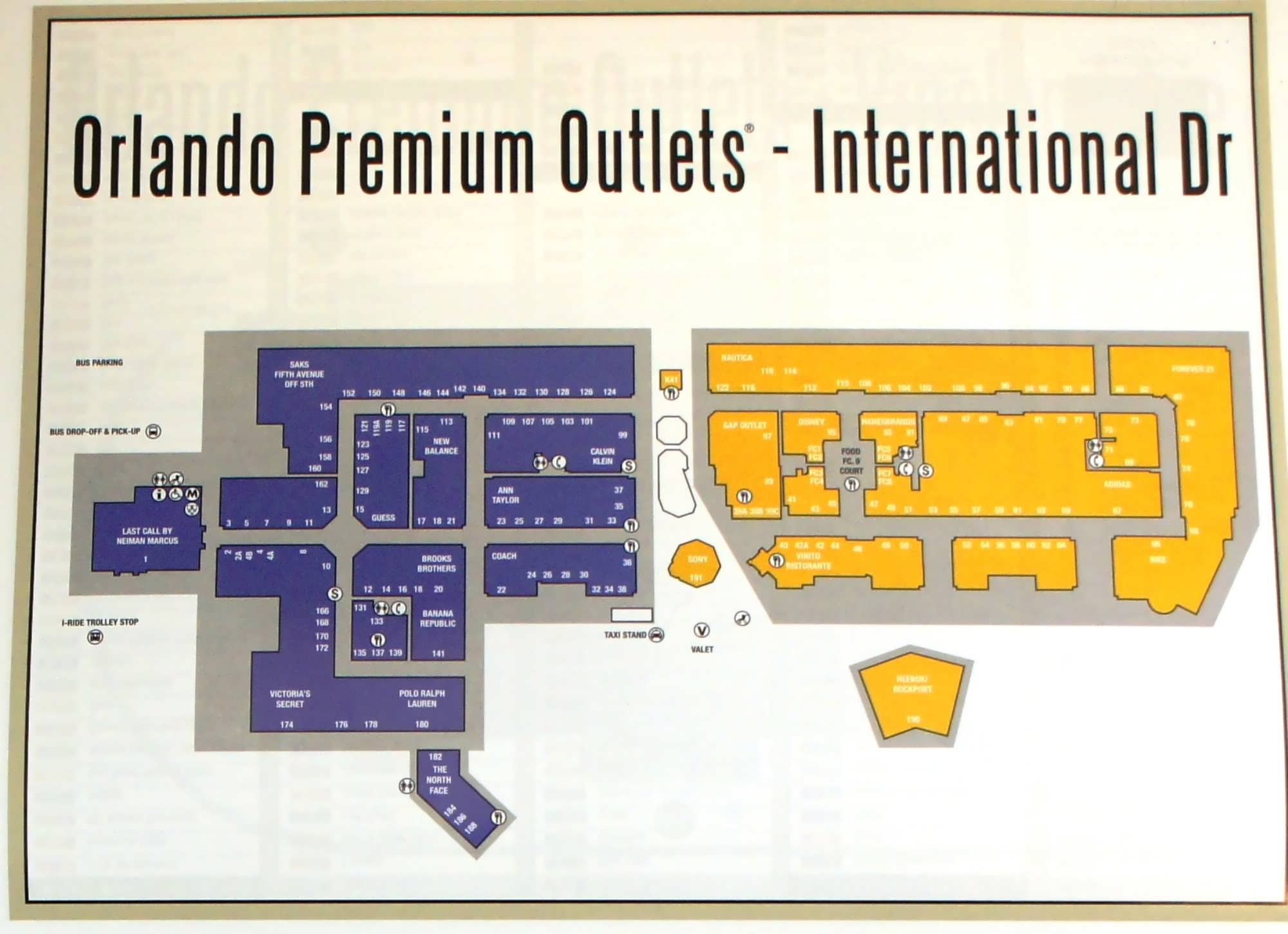 Orlando Premium Outlets International Drive Closest outlets to