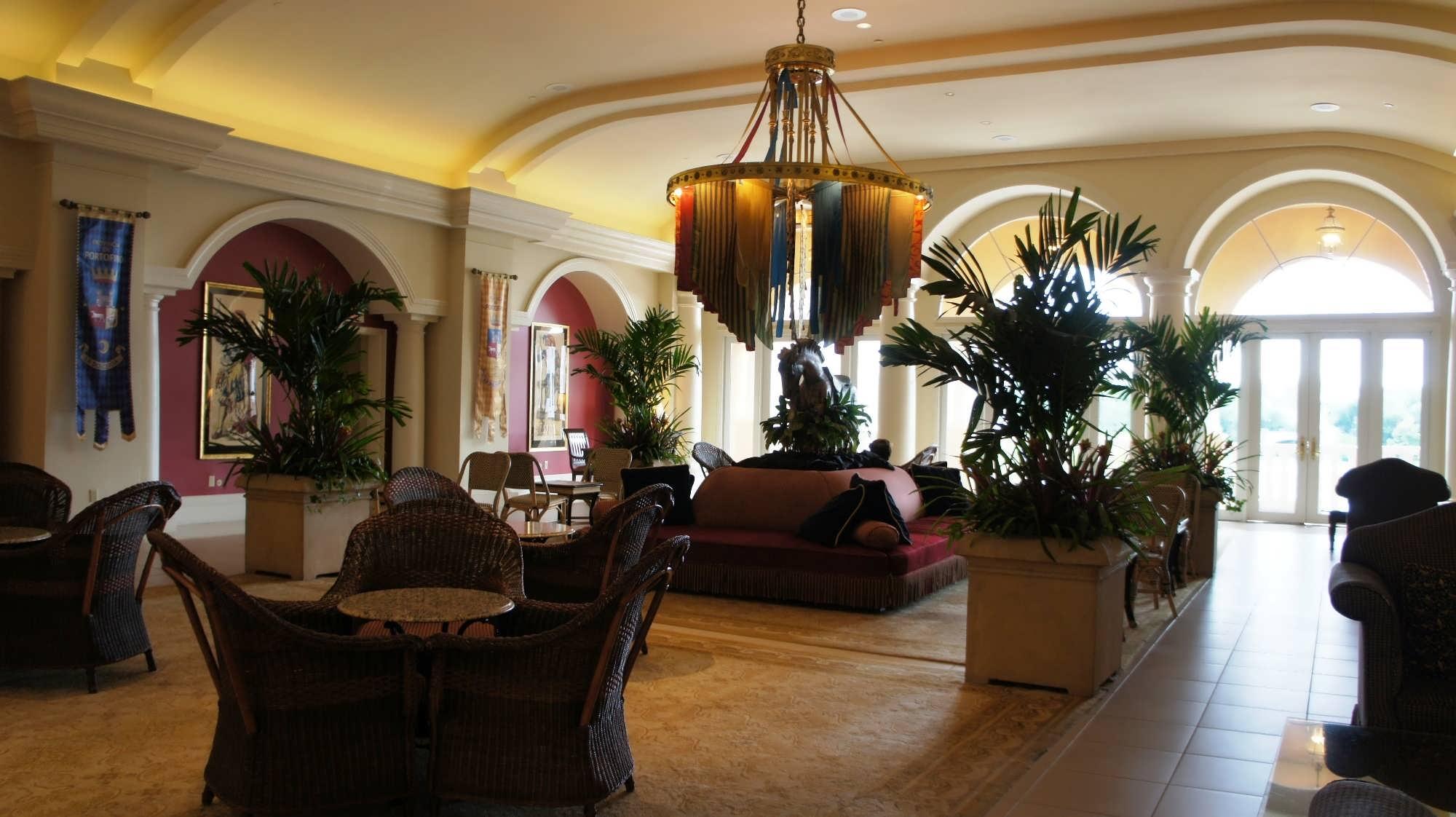 Portofino Bay Hotel Front Desk and lobby area