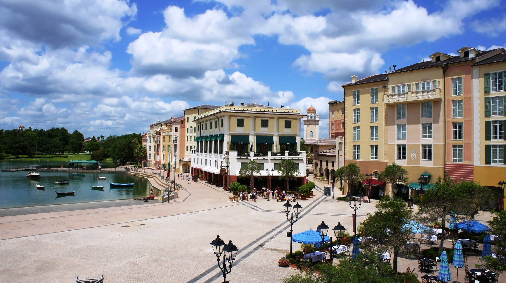 the Harbor Piazza at Portofino Bay