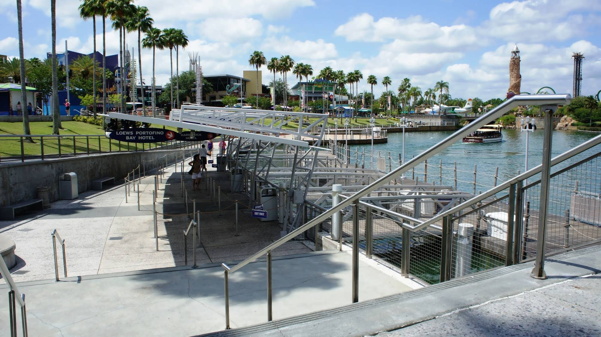 water taxi dock serving CityWalk, Universal Studios Florida, and Islands of Adventure