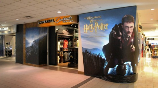 Universal store at Orlando International Airport - in case you forget your wizarding robe at home.