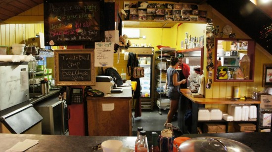 Yellow Dog Eats Bistro & Wine Store in Windermere, FL: The order counter and kitchen.