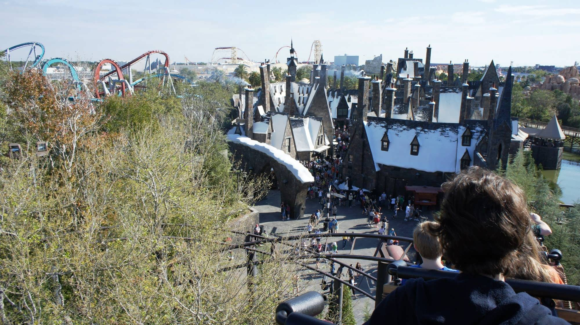View from the top of Flight of the Hippogriff.